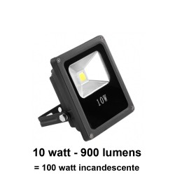 Foco led proyector 10 Watt IP65 (exteriores) no regulable (Hierro fundido) 120°