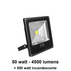 Foco led proyector 50 Watt IP65 (exteriores) no regulable (Hierro fundido) 120°