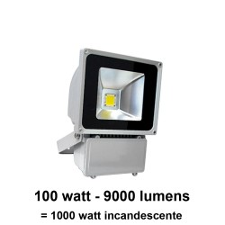 Foco led proyector 100 Watt IP65 (exteriores) no regulable (Hierro fundido) 120°